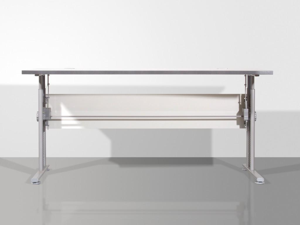 pro b ro schreibtisch h henverstellbar in lichtgrau 160 x 70 80 x 80 arbeitszimmer b ro. Black Bedroom Furniture Sets. Home Design Ideas