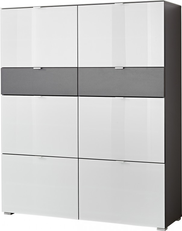 extra big schuhschrank ca 54 paar garderobe highboard. Black Bedroom Furniture Sets. Home Design Ideas