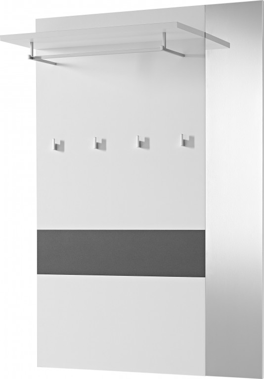 2 tlg garderobe paneel schuhbank ca 12 paar garderobe for Garderobe mit glasfront