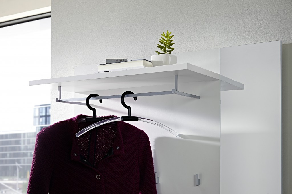 3 tlg. Garderobe Paneel + Schuhbank + Schuhschrank ca. 57 Paar ...