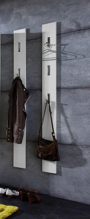 Flurgarderobe hochglanz garderobe paneel wandgarderobe for Garderobe chrom