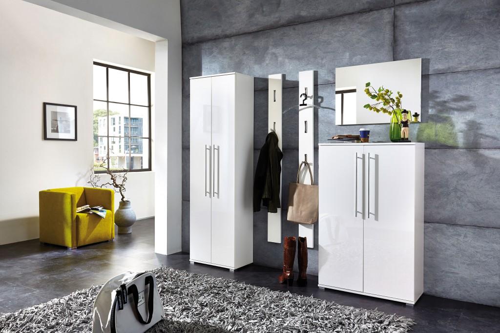schuhschrank kommode garderobe highboard schrank lack wei. Black Bedroom Furniture Sets. Home Design Ideas