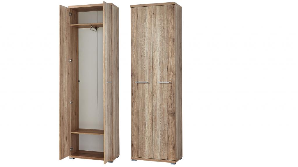 garderobenschrank dielenschrank kleiderschrank top design sanremo eiche nb diele flur. Black Bedroom Furniture Sets. Home Design Ideas