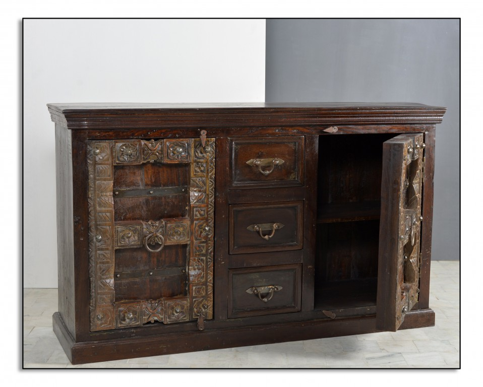 kolonial sideboard schrank kommode almirah 150 cm. Black Bedroom Furniture Sets. Home Design Ideas