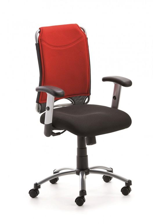 mayer sitzm bel spirit drehstuhl mit verstellbaren armlehnen in perlsilber rot arbeitszimmer. Black Bedroom Furniture Sets. Home Design Ideas