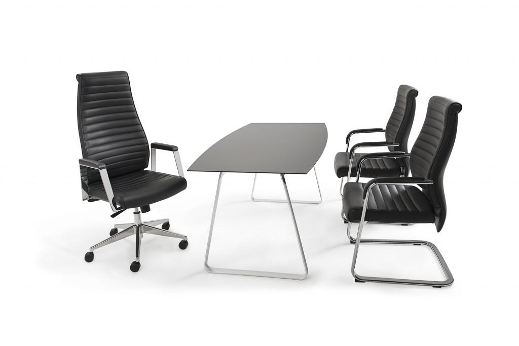 mayer design echt leder deluxe schwingstuhl 2591. Black Bedroom Furniture Sets. Home Design Ideas