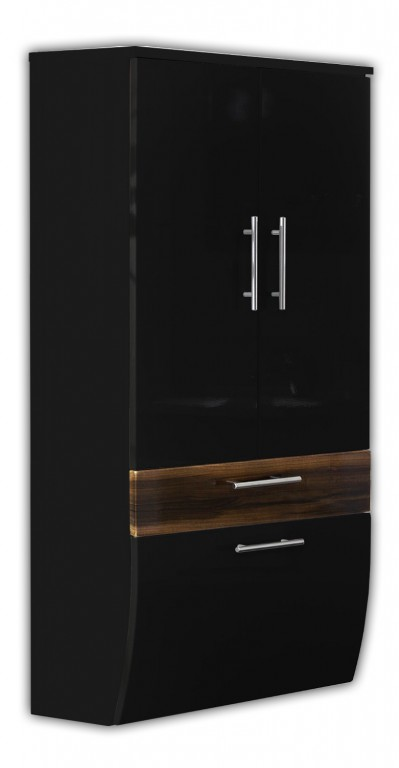 bad hochschrank h ngeschrank badschrank hochglanzfront anthrazit walnuss neu bad m bel. Black Bedroom Furniture Sets. Home Design Ideas