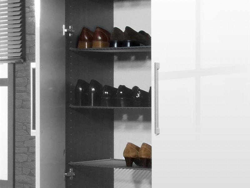 scarpo schuhschrank gro stiefelstange ca 40 paar schuhe esche karbon wei lack 100 x 200 x. Black Bedroom Furniture Sets. Home Design Ideas