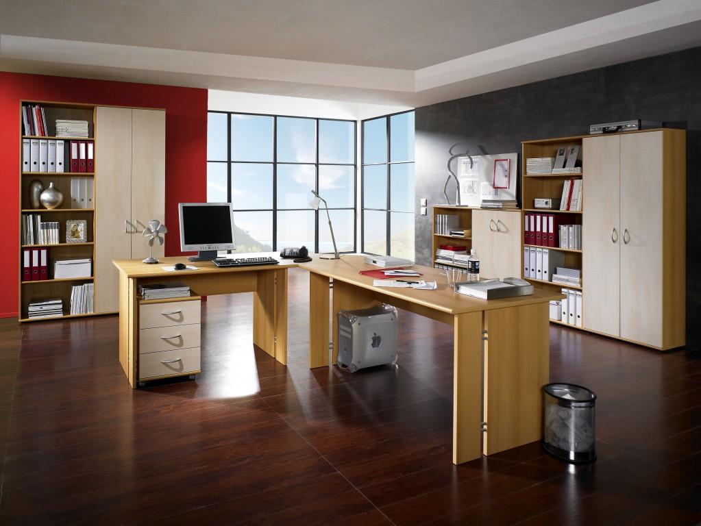 Chef Büro-Arbeitstisch in Buche 120 x 75 x 80 Arbeitszimmer / Büro ...