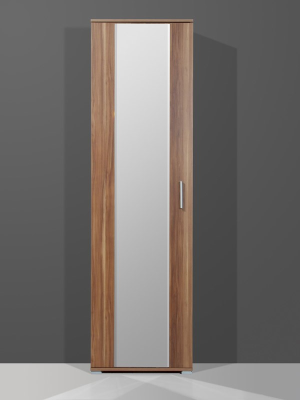 multia kleiderschrank f r garderobe diele flur in walnuss 55 x 200 x 35 diele flur. Black Bedroom Furniture Sets. Home Design Ideas
