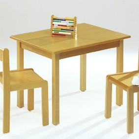 Necke Tommy Kindergartentisch / Tisch für Kinder / Kindertisch in Buche natur