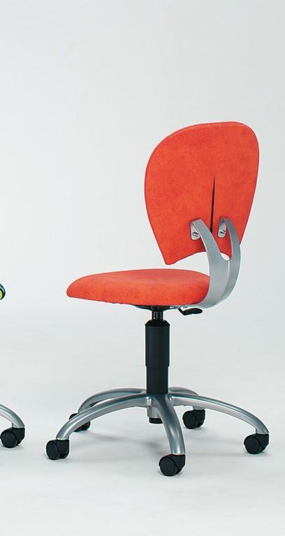 mayer cyper chair drehstuhl f r arbeits jugendzimmer perlsilber orange. Black Bedroom Furniture Sets. Home Design Ideas