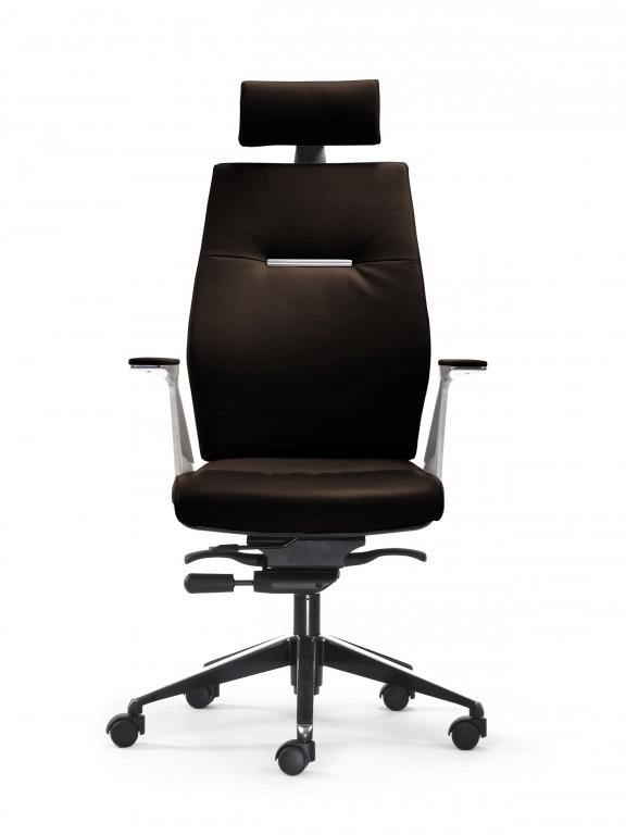 mayer sedna drehsessel chefsessel in leder braun ausf hrung alu mit sitztiefenverstellung. Black Bedroom Furniture Sets. Home Design Ideas