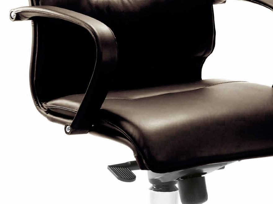 mayer city line chefsessel drehsessel in leder braun. Black Bedroom Furniture Sets. Home Design Ideas