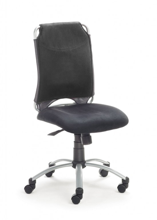 mayer sitzm bel spirit drehstuhl mit synchron mechanik in schwarz schwarz arbeitszimmer b ro. Black Bedroom Furniture Sets. Home Design Ideas