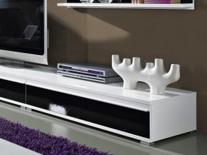steel wohnzimmer-programm 8-tlg. in weiß / schwarz mit glas ... - Wohnzimmer Design Programm