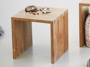 Jan Kurtz ULTIMATIVE Hocker in Teak, recycelt 42 x 42 x 42