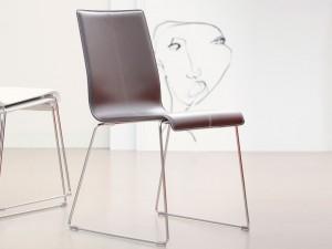 jan kurtz kuadra stuhl chrom leder wei oder dunkelbraun nach wahl im 2erset ebay. Black Bedroom Furniture Sets. Home Design Ideas