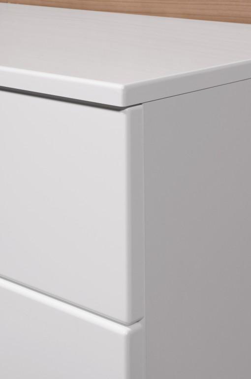vento kommode anrichte mit 2 t ren und 2 schubladen in wei hochglanz 96 x 85 x 40 diele flur. Black Bedroom Furniture Sets. Home Design Ideas