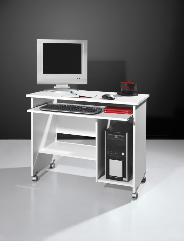 schreibtisch b rotisch pc tisch computertisch auf rollen. Black Bedroom Furniture Sets. Home Design Ideas