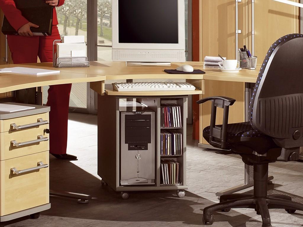 pro schreibtisch eckverbindung in ahorn silber 120 x 70 80 x 120 arbeitszimmer b ro praxis. Black Bedroom Furniture Sets. Home Design Ideas