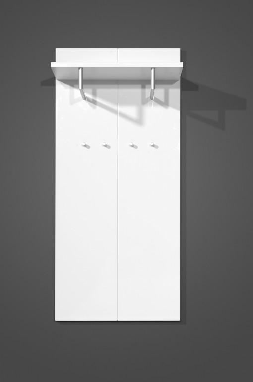 vento garderoben set in wei hochglanz 5 teilig diele. Black Bedroom Furniture Sets. Home Design Ideas