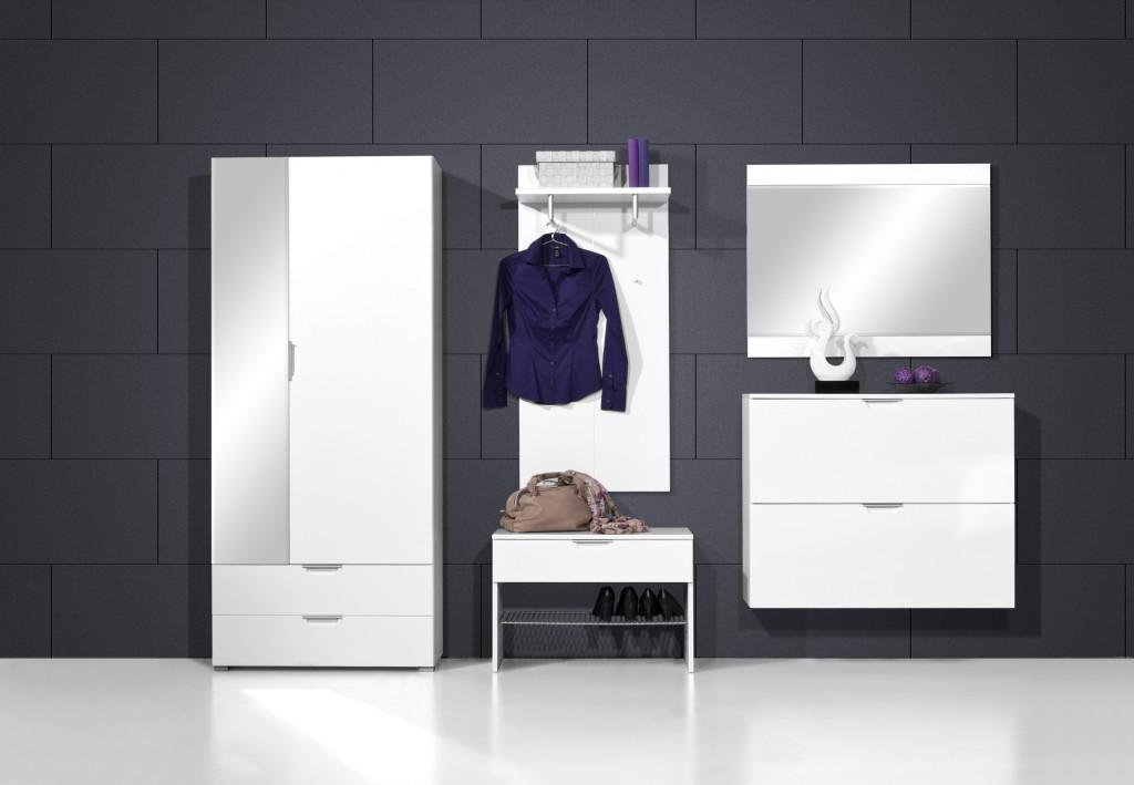 garderoben set wei hochglanz preisvergleich die besten angebote online kaufen. Black Bedroom Furniture Sets. Home Design Ideas