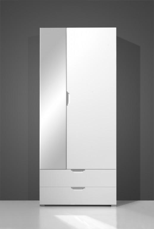 Vento garderoben set in wei hochglanz 5 teilig diele for Garderobe 100 cm breit