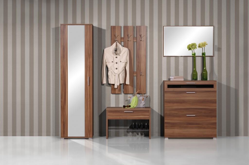 Rom spiegel f r garderobe diele flur in walnuss 89 x for Garderobe quadro walnuss