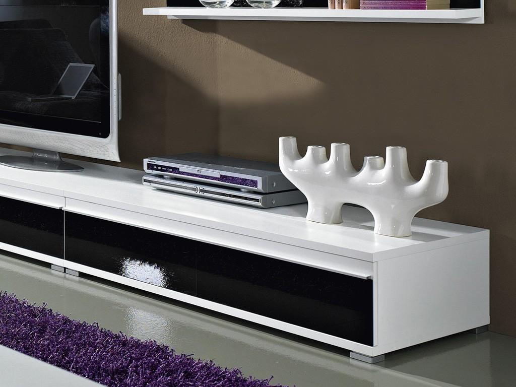steel wohnzimmer programm 8 tlg in wei schwarz mit. Black Bedroom Furniture Sets. Home Design Ideas