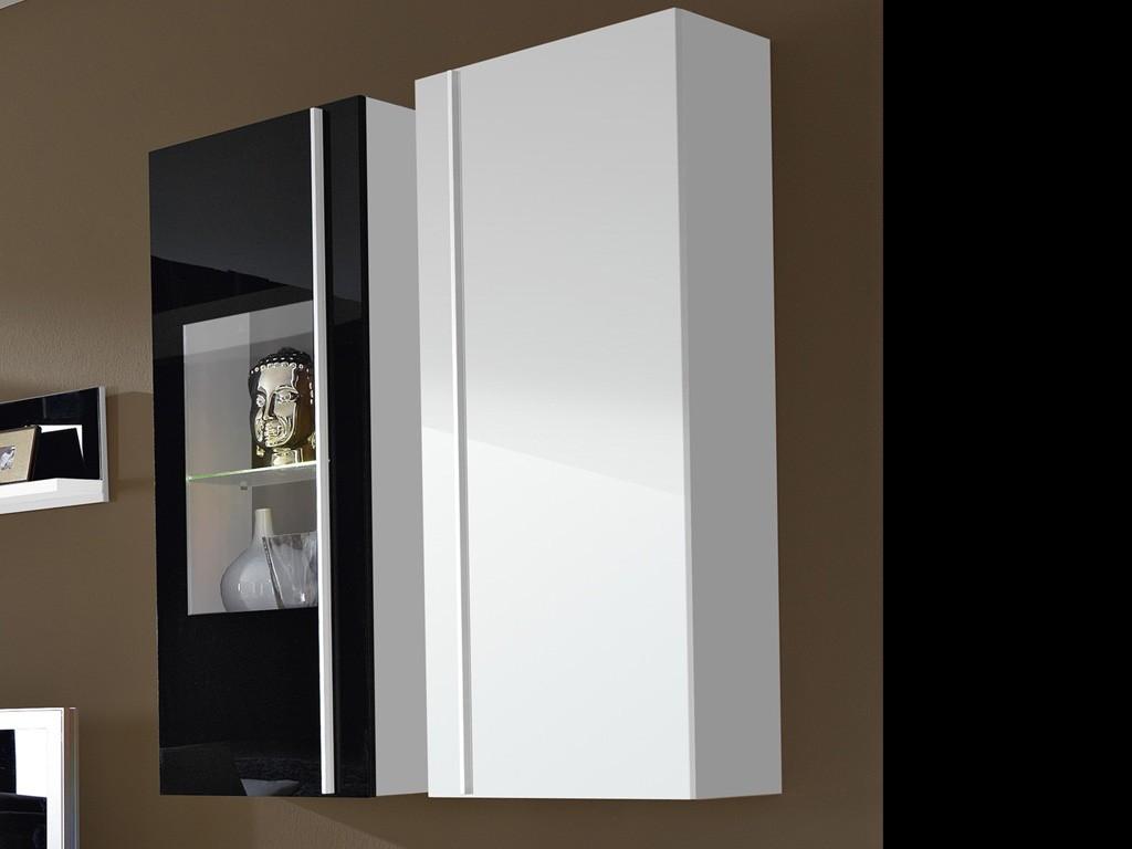 Steel wohnzimmer programm 8 tlg. in weiß / schwarz mit glas ...