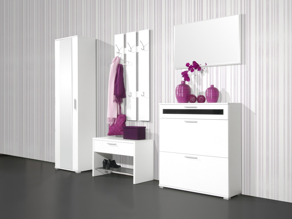 paneel garderobe haken flur wandpaneel garderobenpaneel wei 65 x 120 x 15 ebay. Black Bedroom Furniture Sets. Home Design Ideas