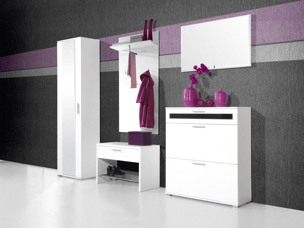 medina spiegel f r garderobe in wei 90 x 55 x 4 diele flur garderobe garderobe spiegel wei. Black Bedroom Furniture Sets. Home Design Ideas