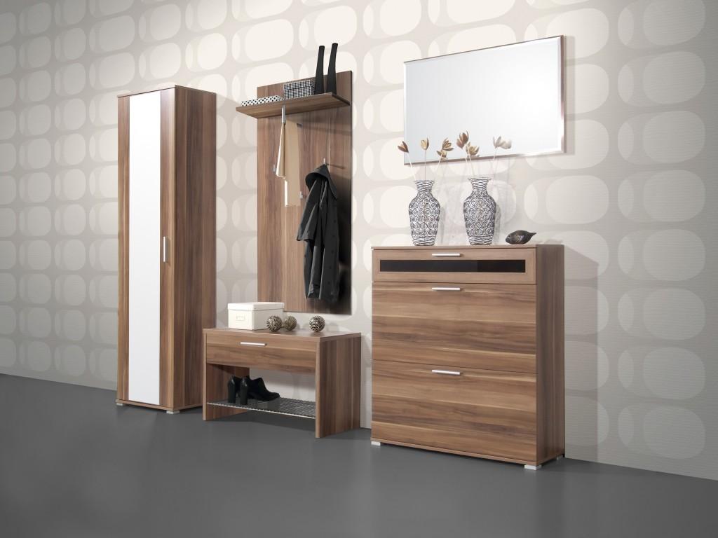medina kleiderschrank f r garderobe in walnuss 55 x 200 x 35 diele flur garderobe garderobe. Black Bedroom Furniture Sets. Home Design Ideas