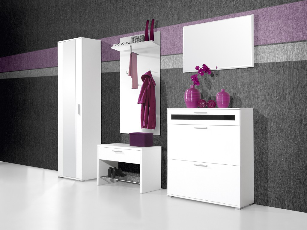 medina schuhbank f r garderobe diele flur in wei 75 x. Black Bedroom Furniture Sets. Home Design Ideas