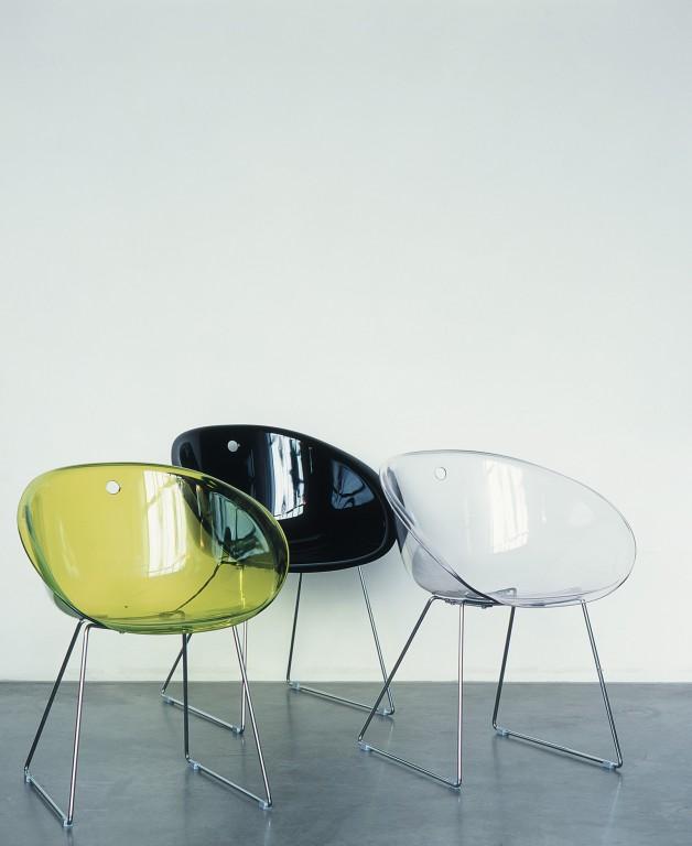 Jan kurtz gliss stuhl mit kufen chrom schwarz 2erset von for Design stuhl mit kufen