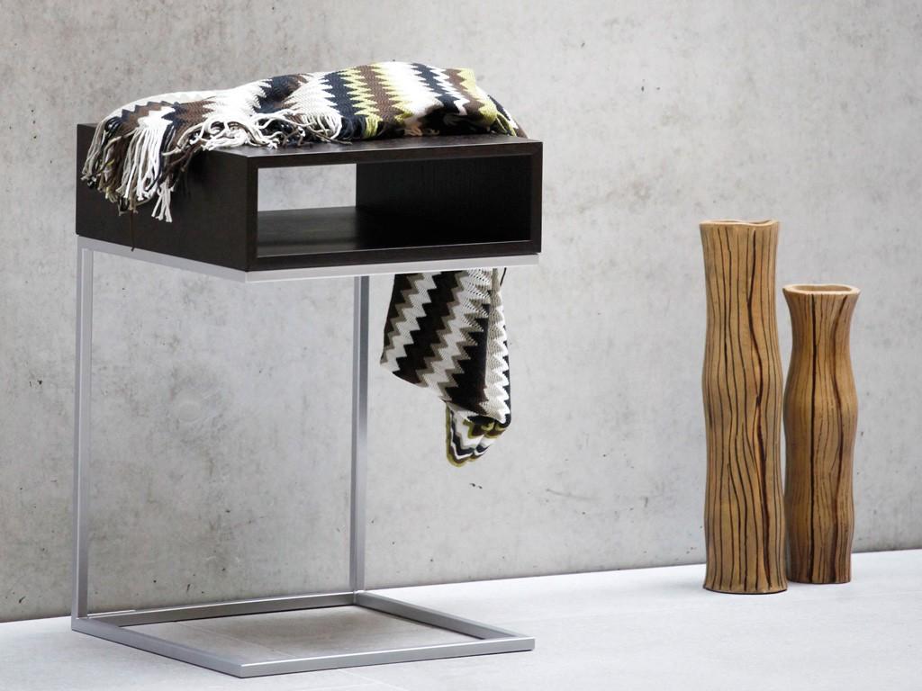 jan kurtz dina beistell tisch in luna silber wenge 40 x 61 5 x 40 wohnzimmer couchtische. Black Bedroom Furniture Sets. Home Design Ideas