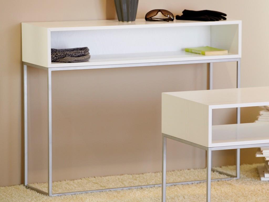 jan kurtz dina konsol tisch in luna silber wei 100 x 78 x 34 wohnzimmer konsoltische luna. Black Bedroom Furniture Sets. Home Design Ideas