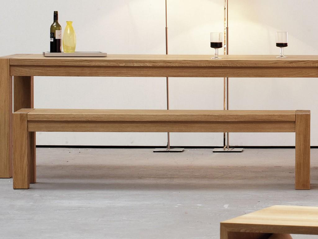 Jan Kurtz Valentino Bank Eiche massiv 180 auch in 200, 220 cm Breit