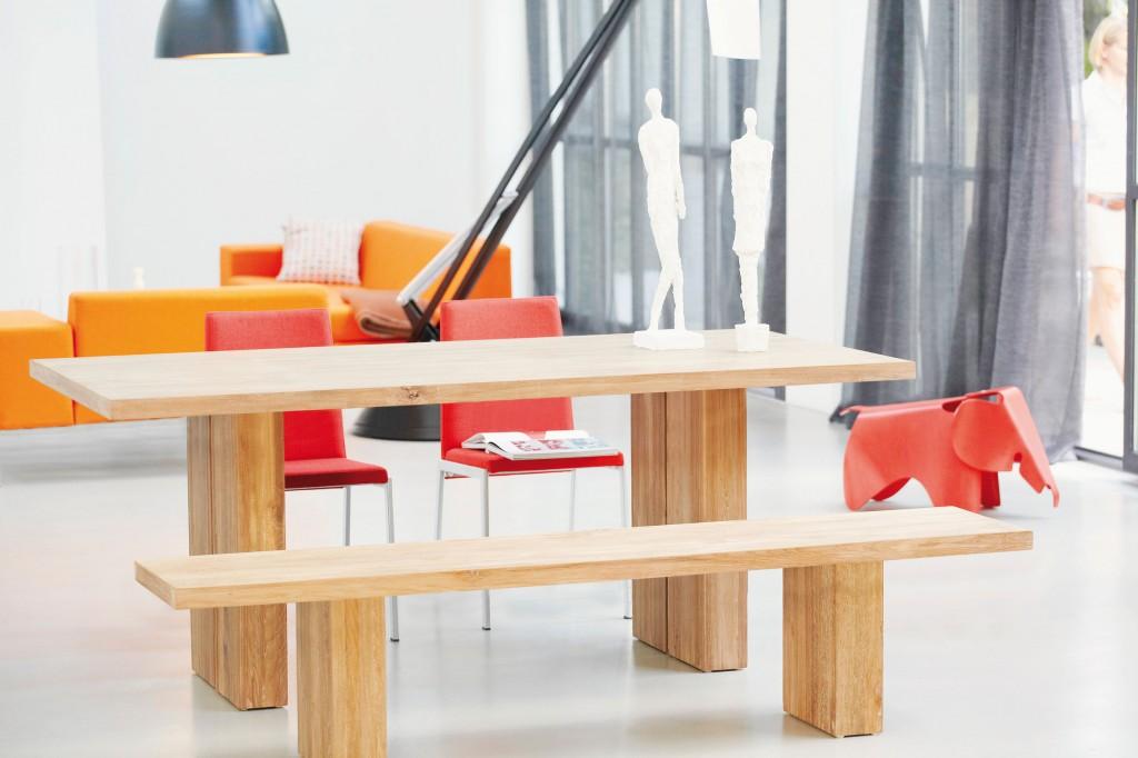 Jan Kurtz Celebration Tisch / Esstisch in Teak, recycelt ab 78 x 180 x 90