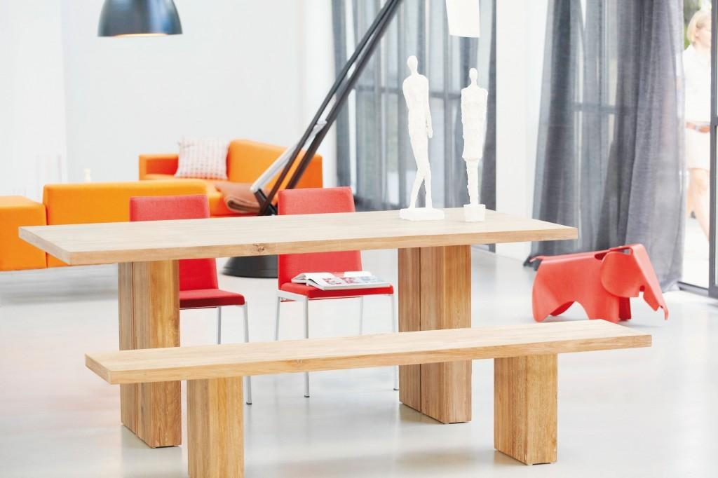 Jan Kurtz Celebration Tisch / Esstisch in Teak, recyclet ab 78 x 180 x 90