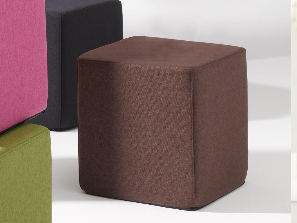 Jan Kurtz SITTING Sitzwürfel in Stoff rot, schwarz, braun, grün ...