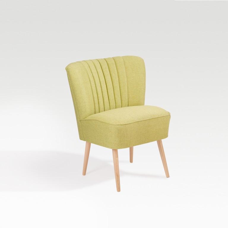 necke marino cocktailsessel lounge sessel buche natur bergamo limone - Dreh Clubsessel Wohnzimmer