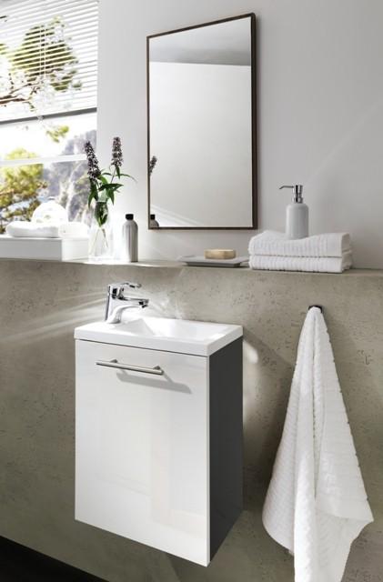 handwaschplatz aktzent g ste wc waschplatz g stebad waschbecken waschtisch badschrank anthrazit. Black Bedroom Furniture Sets. Home Design Ideas
