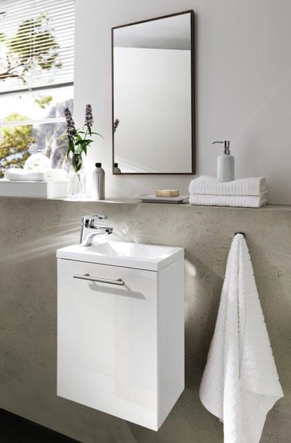 handwaschplatz aktzent g ste wc waschplatz hochglanzfront g stebad waschbecken waschtisch. Black Bedroom Furniture Sets. Home Design Ideas