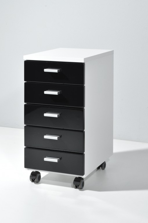 b ro rollcontainer hochglanz front wei schwarz gr n rot gelb orange petrol 28 x 57 x 40. Black Bedroom Furniture Sets. Home Design Ideas
