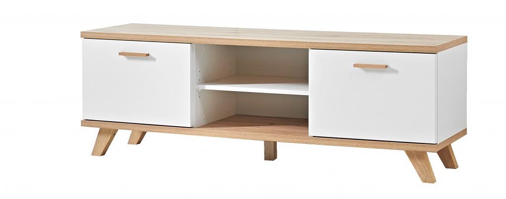 Lowboard TV-Board Kommode Anrichte Sideboard Norway 2 Türen in weiß Eiche 144 x 49 x 40