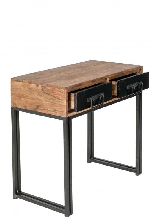 konsole konsolentisch panama telefontisch metall massivholz sheshame diele flur garderobe. Black Bedroom Furniture Sets. Home Design Ideas