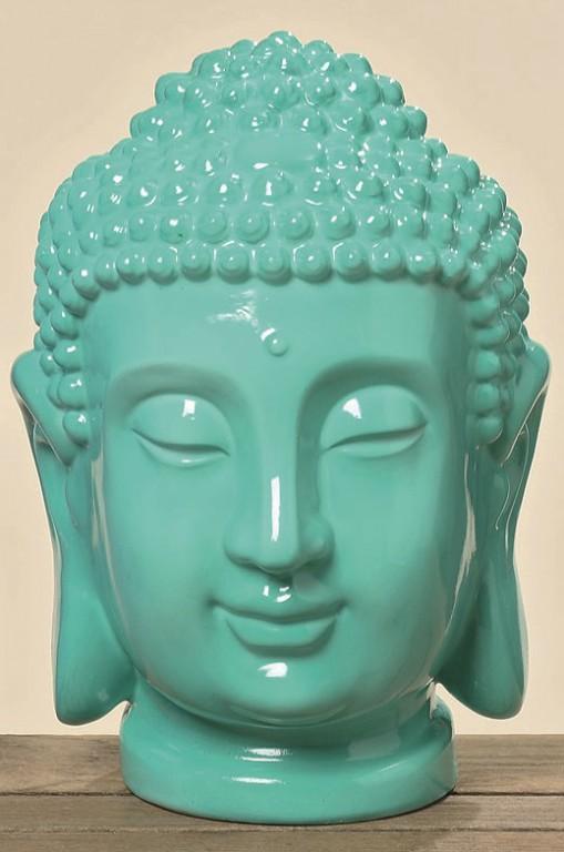 buddhakopf deko gartendeko buddha feng shui geschenk statue blau gr n sparset ebay. Black Bedroom Furniture Sets. Home Design Ideas