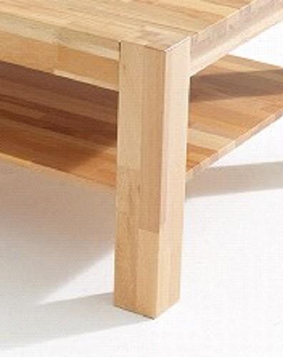 Couchtisch auf Rollen Beistelltisch Tisch Kernbuche massiv 110 x 70 ...